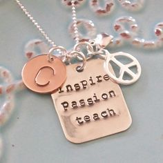 Personalized Hand StampedSterling Silver by PoppyChicJewelry