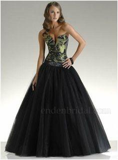 Beautiful black wedding dress