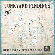 Junkyard Findings by Ingvild Bolme - Prima Rusty Typo Zippers Metal embellishments