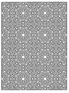 Tessellation Patterns Coloring Book Page