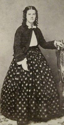 Civil War Era Beautiful Woman Hoop Skirt Bolero Jacket by Hope New York CDV | eBay