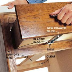 Fixing Drawers How To Make Creaky Glide