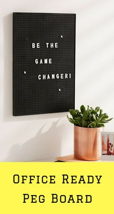 small office peg board #ad Small Office, Home Office, Office Ideas, Letter Board, Budgeting, Boards, Women, Tiny Office, Home Offices