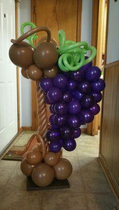 Grapes# elegancemanifested decor can make your event elegant Balloon Columns, Balloon Arch, Balloon Ideas, Love Balloon, Balloon Flowers, Balloon Decorations Party, Balloon Centerpieces, Ideas Bautizo, Columns Decor