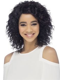 Alika Wig by Vivica Fox: This fun flirty style is ready to wear with a tight spiral curl style and invisible side part. NO STYLING PRODUCTS. Tight Spiral Curls, Vivica Fox, Styling Brush, Curl Styles, Color Ring, Styling Products, Human Hair Wigs, Lace Front Wigs, Hair Pieces
