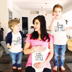 @lovelittlefaces/ @littlefacesapparel - Pregnancy announcement, new baby, sibling tees, little little, middle little, big little