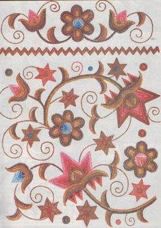 FolkCostume&Embroidery: Cuman Embroidery of Hungary Hungarian Embroidery, Folk Embroidery, Learn Embroidery, Embroidery Patterns, Folk Clothing, Chain Stitch, Couture, Hungary, Art Forms