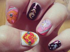 Sailor Moon #ネイル #ネイルアート  #セルフネイル  #セルフネイル部  #nail #nails #nailart #nailstagram #naildesign   #beautiful  #fashion  #art #arts #paint #sailormoon ##