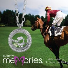 """Melbourne Cup Inspired """"Butterfly Memories"""" by Butterfly Silver Melbourne Cup, Butterfly Jewelry, Body Jewellery, Lockets, Sterling Silver Jewelry, Women Jewelry, Memories, Steel, Inspired"""