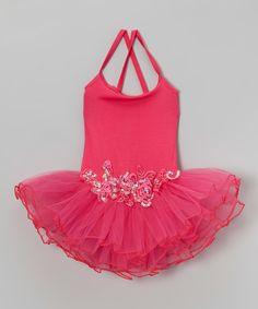 Look at this Hot Pink Sequin Flower Skirted Leotard - Infant, Toddler & Girls by Wenchoice Cute Girl Outfits, Little Girl Dresses, Dance Outfits, Kids Outfits, Girls Dresses, Princess Outfits, Dance Gear, Baby Ballet, Infant Toddler