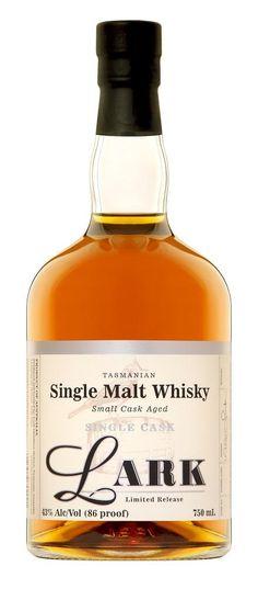 Lark Single Malt Single Cask Whisky - an Australian Winter warmer Good Whiskey, Scotch Whiskey, Bourbon Whiskey, Rum Bottle, Whiskey Bottle, Alcohol Bottles, Single Malt Whisky, Cigars, Jars