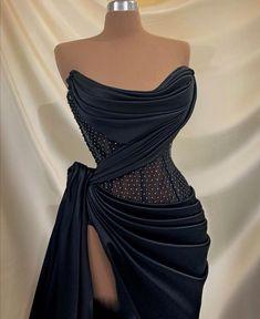 Glam Dresses, Event Dresses, Couture Dresses, Pretty Dresses, Beautiful Dresses, Formal Dresses, Look Fashion, Fashion Outfits, Daily Fashion