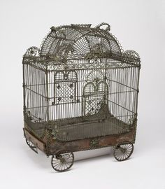 Bird cage in the form of a circus wagon, 18th century.