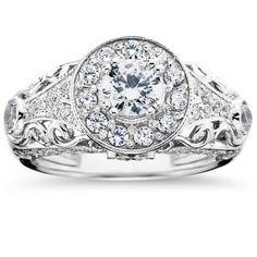 Mounting for my original engagement diamond.