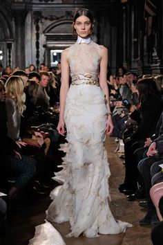 Seemingly singed gowns the o 39 jays gowns and fall for Giles deacon wedding dresses