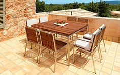 Chairs & Table Modern Outdoor Furniture, Outdoor Decor, Exterior, Patio, Table, House Ideas, Chairs, Home Decor, Decoration Home