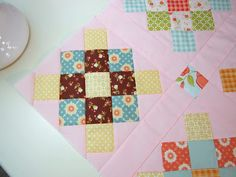 granny square blocks made from my scraps of fabric (i love these blocks)