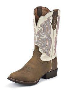 Justin Women's Buckskin Rawhide Cowgirl Boot http://www.countryoutfitter.com/products/20408-womens-buckskin-rawhide-boot-l7200