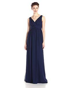 6ac8b24762b Donna Morgan Women s Julie Long Bra Friendly Chiffon Dress