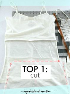 How to make an easy DIY Nursing top using two tank tops and just a couple of easy snips and straight stitches! Also comes with free printable chart - 23 stellar uses for breastmilk!