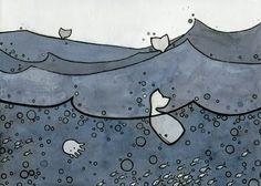 Cute Whale Print