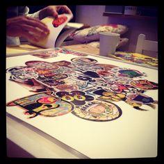Making a stickerbomb print