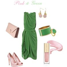 Pink & Green, created by carolinemulroy on Polyvore