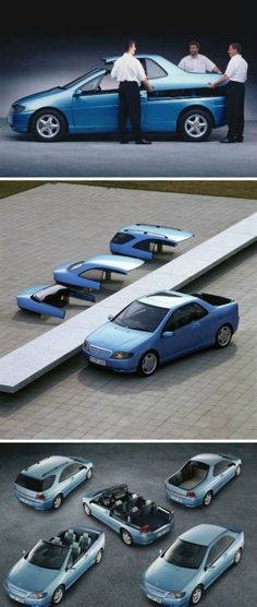Idea automobile modulable very good you'll be able to change Ford Capri, Mercedes Benz, Supercars, Automobile, Module, Kit Cars, Transportation Design, Automotive Design, Car Car