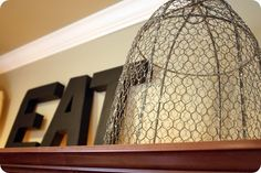 E A T letters for kitchen decor. I like this idea for on top of the kitchen cabinets - did it!