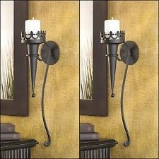 2 New Gothic Candle Holder Sconces Home Accent Wall Decor