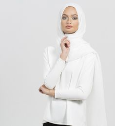 White Modal Hijab - £12.90 : Inayah, Islamic Clothing & Fashion, Abayas, Jilbabs, Hijabs, Jalabiyas & Hijab Pins