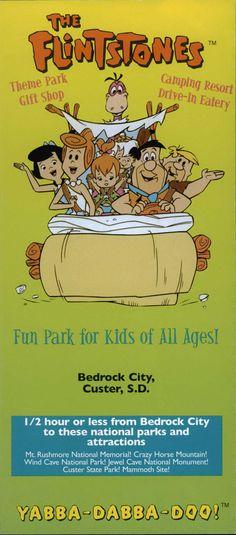 Flintstones Bedrock City Brochure