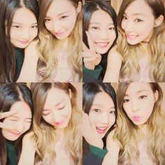 SNSD Tiffany snap cute photos with Red Velvet's Joy