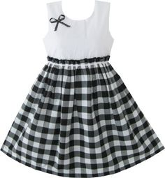 Girls Dress Black And White Tartan Kids Sundress Size 6-6 Sunny Fashion,http://www.amazon.com/dp/B009FSODSS/ref=cm_sw_r_pi_dp_CcCkrb07FJE31QNP