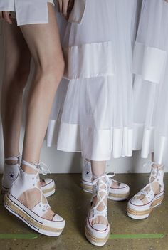 An espadrille spin on converse sneakers
