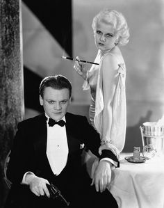Great photo of James Cagney and Jean Harlow.