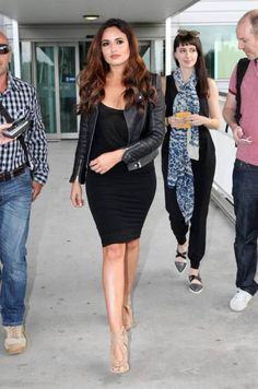 Irish model Nadia Forde arrives at the Brisbane International Airport ahead of the 'I'm A Celebrity...Get Me Out Of Here' show launch.