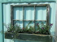 flower box made from an old window ikare - for more images here -