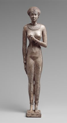 Statuette of a Woman, Late Period, Dynasty 26, reign of Necho II, ca. 610–595 B.C.