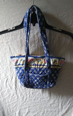 b8bb3937dd5e Vera Bradley Tote Bag Shoulder Purse Retired Maison Blue  VeraBradley   TotesShoppers  VeraBradleyMaisonBlue Vera
