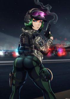Shadman's Rainbow Six Siege Ela Bosak Anime Sensual, Anime Sexy, Anime Ai, Rainbow Six Siege Anime, Rainbow 6 Seige, Rainbow Six Siege Memes, Anime Military, Military Girl, Shadman Art