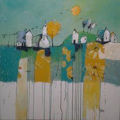 Warm karoo sun    Acrylic painting by glendine