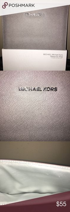 NIB - MICHAEL KORS  GRAY IPAD SLEEVE - NEW IN BOX. MICHAEL KORS SMART COVER COMPATIBLE  IPAD SLEEVE.  COLOR GRAY:-)    THANKS FOR VIEWING AND SHARING MY CLOSET.  PLEASE COME BACK AGAIN SOON. Michael Kors Accessories Laptop Cases