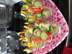 No more double dipping! Kids party food