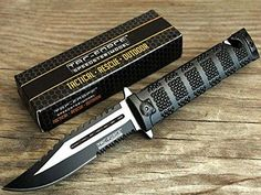 TAC Force TF-710BK Liner Lock Assisted Opening Folding Knife Two-Tone Half-Serrated Blade Black Handle 5-Inch Closed