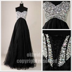 black prom dress long prom dress evening prom dresses by okbridal, $178.00