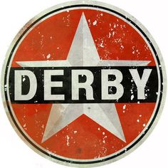 Derby Gasoline, Aged Style Large Aluminum Metal Sign, 3 Sizes Available, USA Made Vintage Style Retro Garage Art by HomeDecorGarageArt on Etsy Man Cave Garage, Garage Art, Garage Signs, Cave Bar, Automotive Decor, Automotive Furniture, Logos Retro, Pin Up Posters, Old Gas Stations