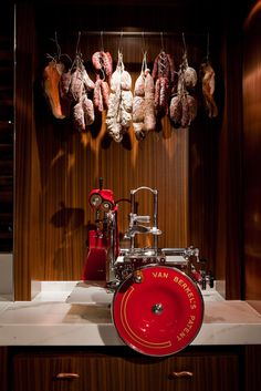 hanging cured meats salami machine