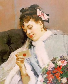 Raimundo de Madrazo y Garreta 1841-1920 the love letter