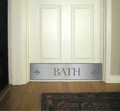 Bath room door kick plate white door deck the door decor